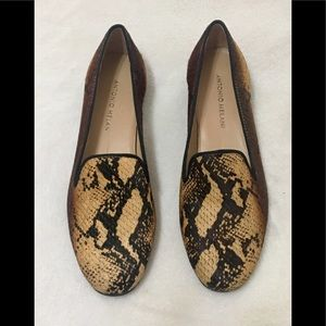 Antonio Melani Gigi snake print smoking slippers